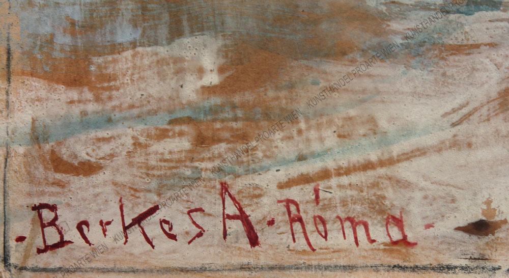Berkes Antal - Motiv aus Italien -Die Vorstadt von Rom