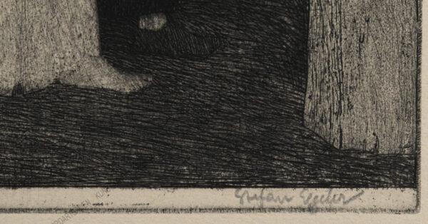 """Stefan Eggeler - Blatt VII aus der Folge """" Der Schleier der Pierrette"""" 1922"""