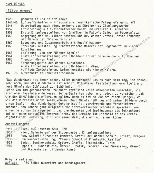 "Kurt Mikula - ""Tätowierung"""