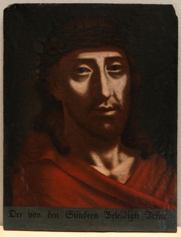 """Künstler unbekannt - Jesus mit Dornenkrone -""""Der von den Sündern beleidigte Jesus"""""""