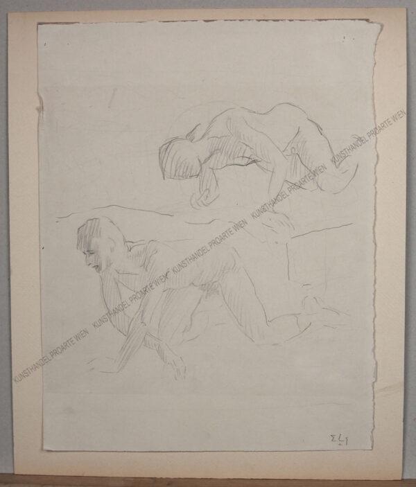 Erwin Lang - Aktstudie zweier Männer