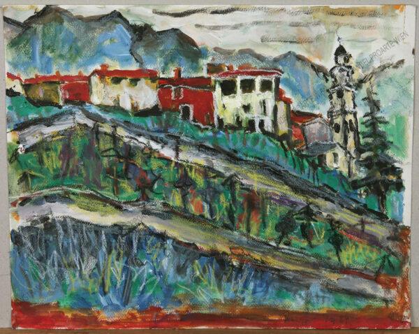 Rudolf Ullik - Blick auf Pranzo am Gardasee