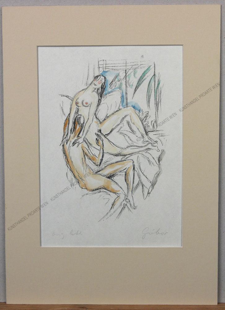 László Gábor - Ein Blatt aus der graphischen Folge:Ovid Liebesgedichte - Phaidon Verlag - 1924