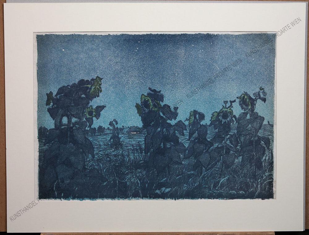 "Jan Wojnarski - Sonnenblumenfeld bei Nacht ""Sloneczniki"" 1909"