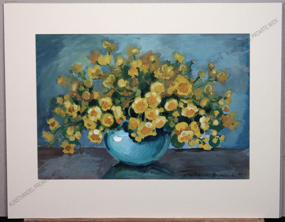 Anna Maslankiewicz-Brzozowska - Blumen in einer bauchigen Vase
