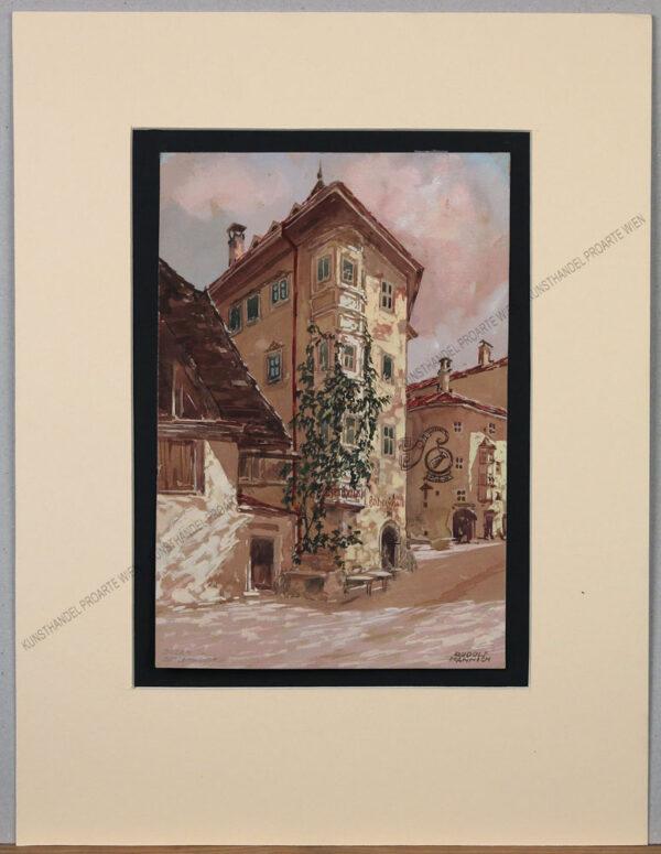Rudolf Hannich - Blick auf das Batzenhäusel in Bozen
