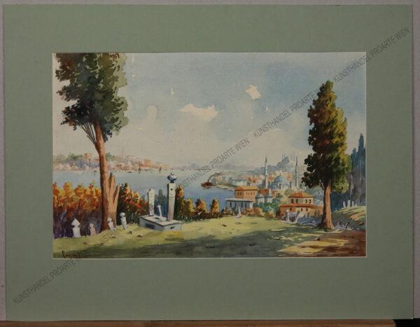 Serif Renkgörür - Blick auf das goldene Horn vom Pierre Loti Hügel aus gesehen