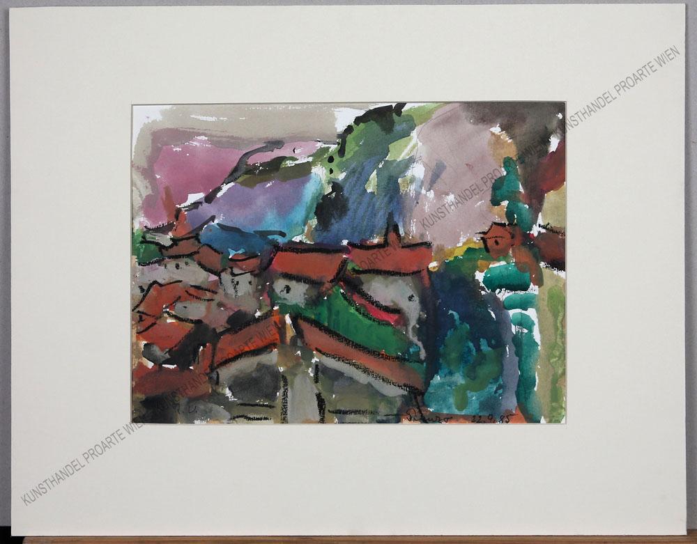 Rudolf Ullik - Blick auf Pranzo in Trentino