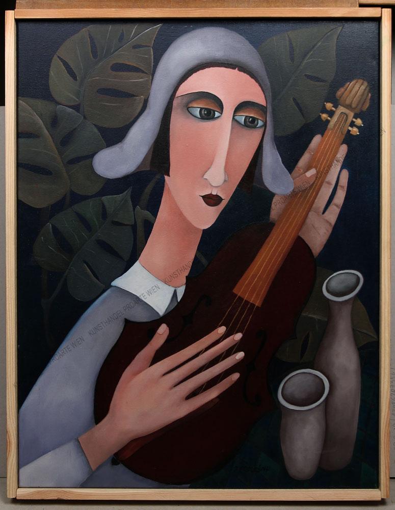 Jolanta Podlesny - Frau mit Violine