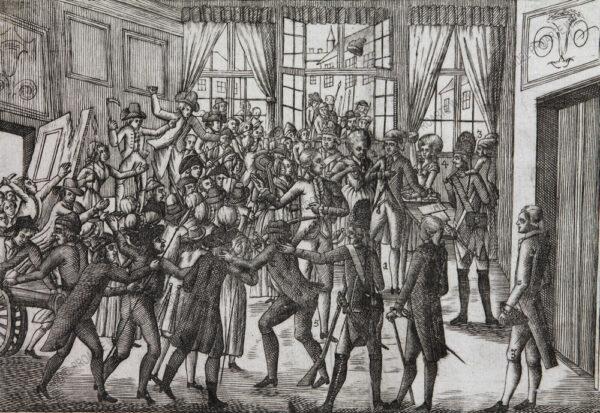 Künstler unbekannt - Sturz des Ludwig XVI