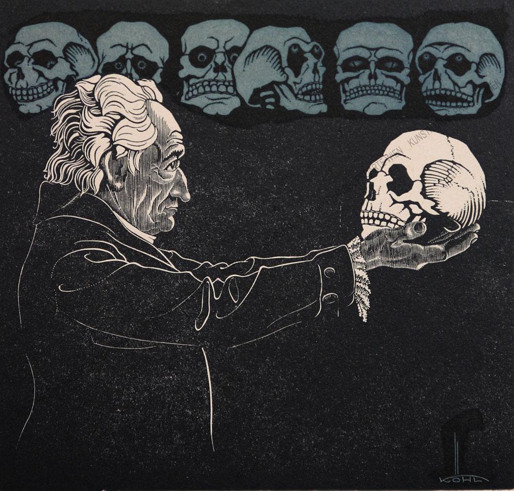 Rudolf Köhl - Goethe mit Schillers Schädel