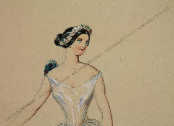 Künstler unbekannt - Darstellung der Therese Krones