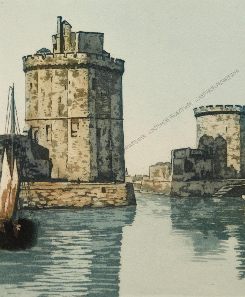 Frédéric Louis Leve - Der Hafen von La Rochelle