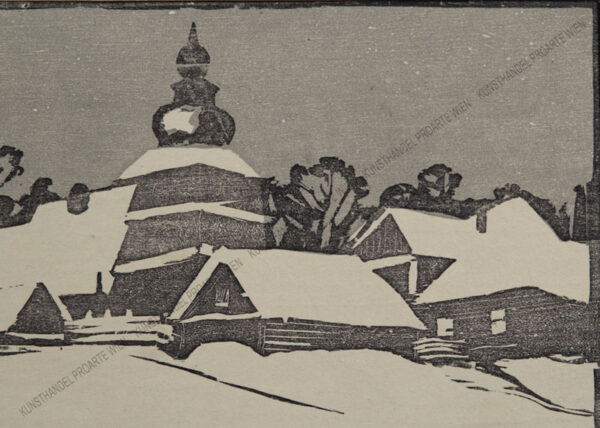 Stefan Filipkiewicz - Verschneite Dorfkirche