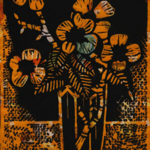 Karl Tomasovsky - Blumenstillleben in Orange