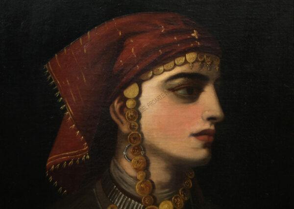 Künstler unbekannt - Eine armenische Schönheit in Nationaltracht