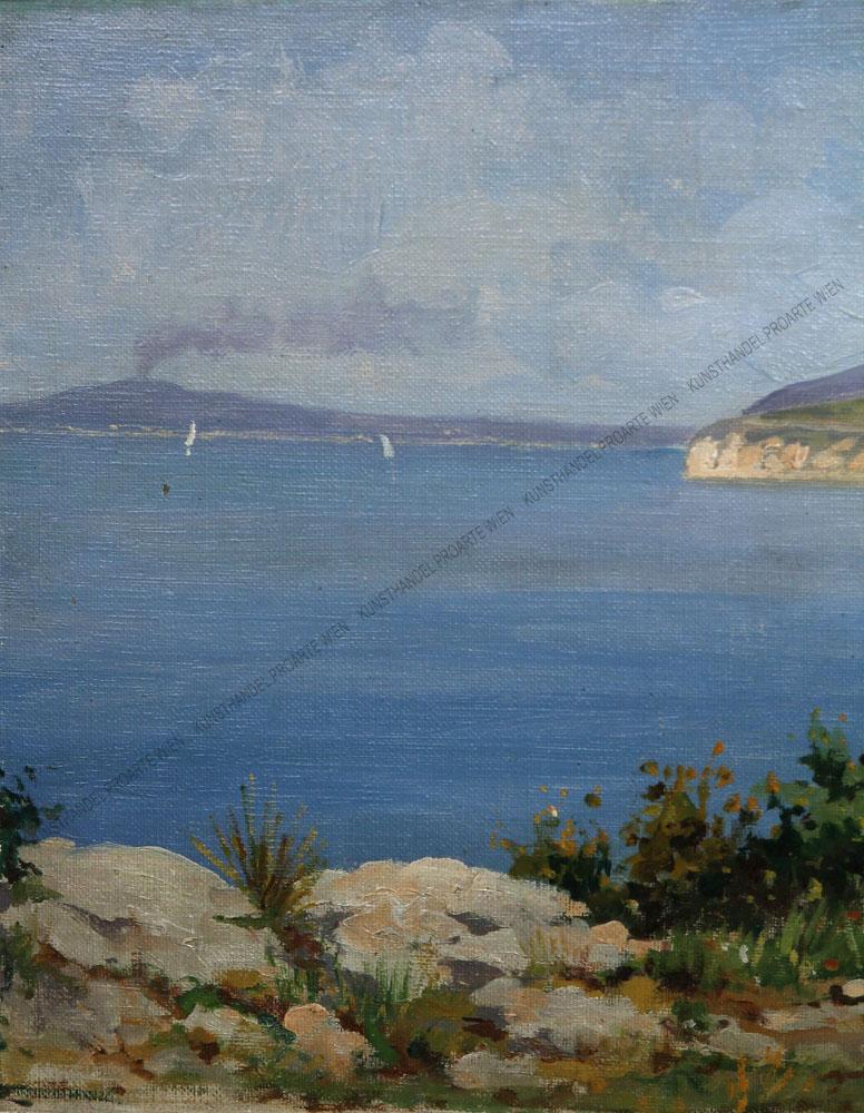 Gaetano Esposito - Blick auf den Golf von Neapel mit Vesuv