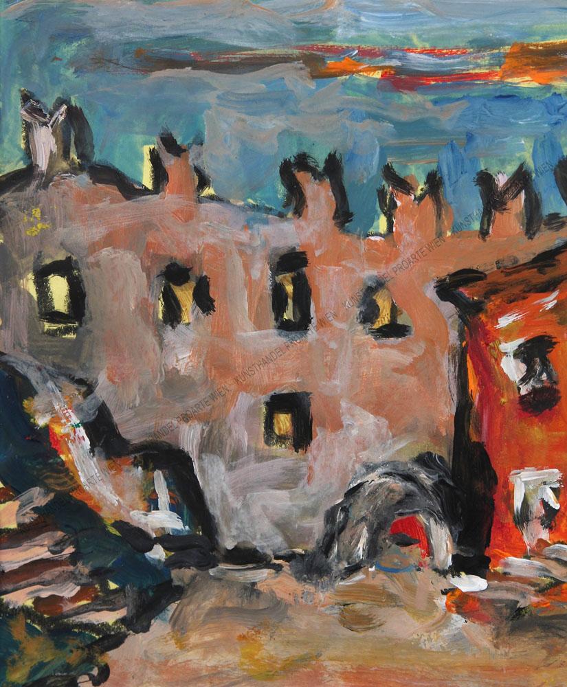 Rudolf Ullik - Blick auf eine Stadt in Oberitalien