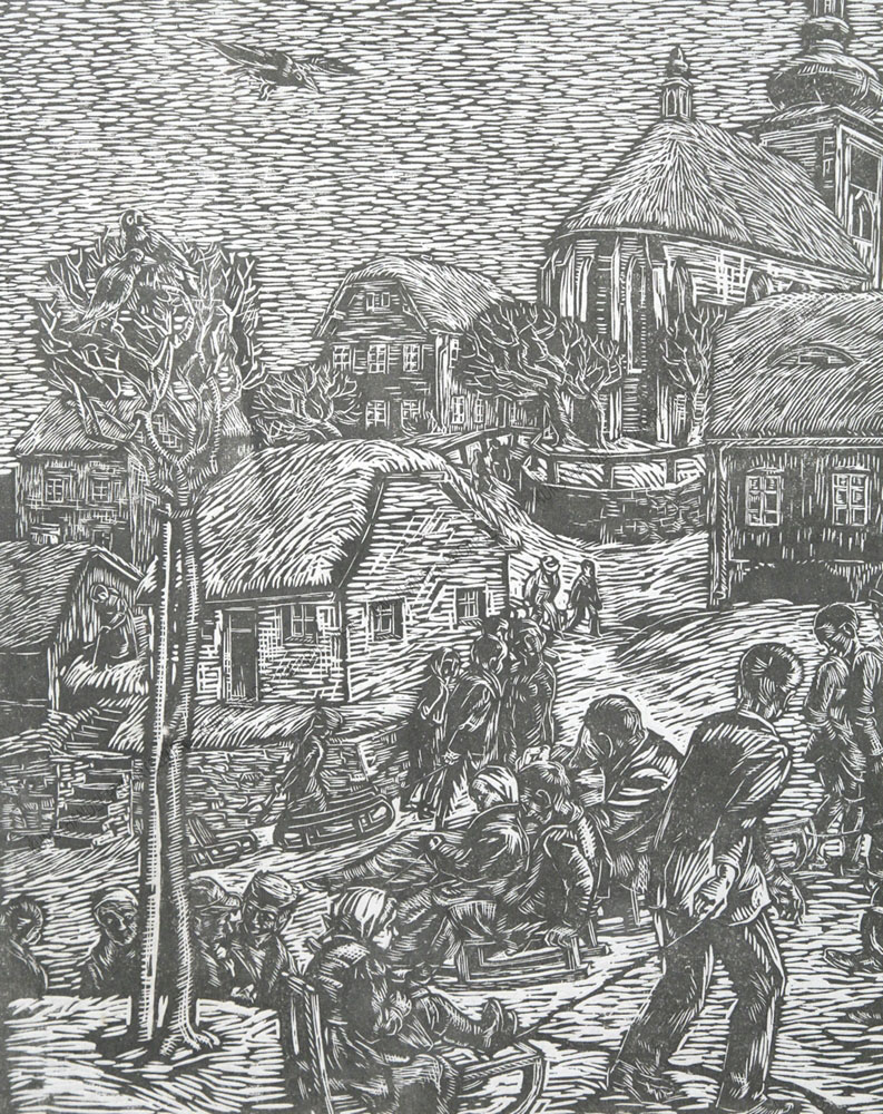 Christian Ludwig Martin - Dorf im Winter - Der erste Schnee