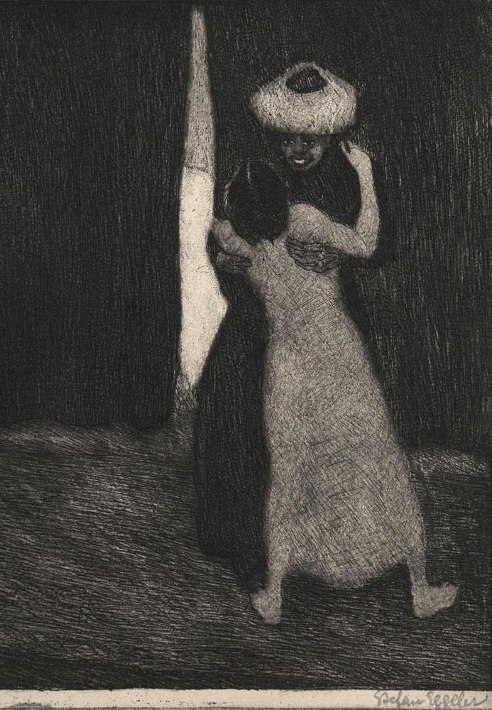 """Stefan Eggeler - Blatt V aus der Folge """" Der Schleier der Pierrette"""" 1922"""
