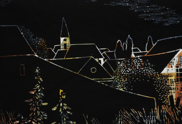 Karl Tomasovsky - Landschaft mit Kirche