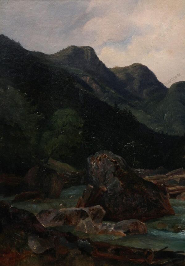Josef Feid - Gebirgslandschaft mit Bach