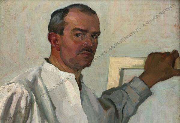 Hermann Grom - Rottmayer - Selbstbildnis des Künstlers im Atelier