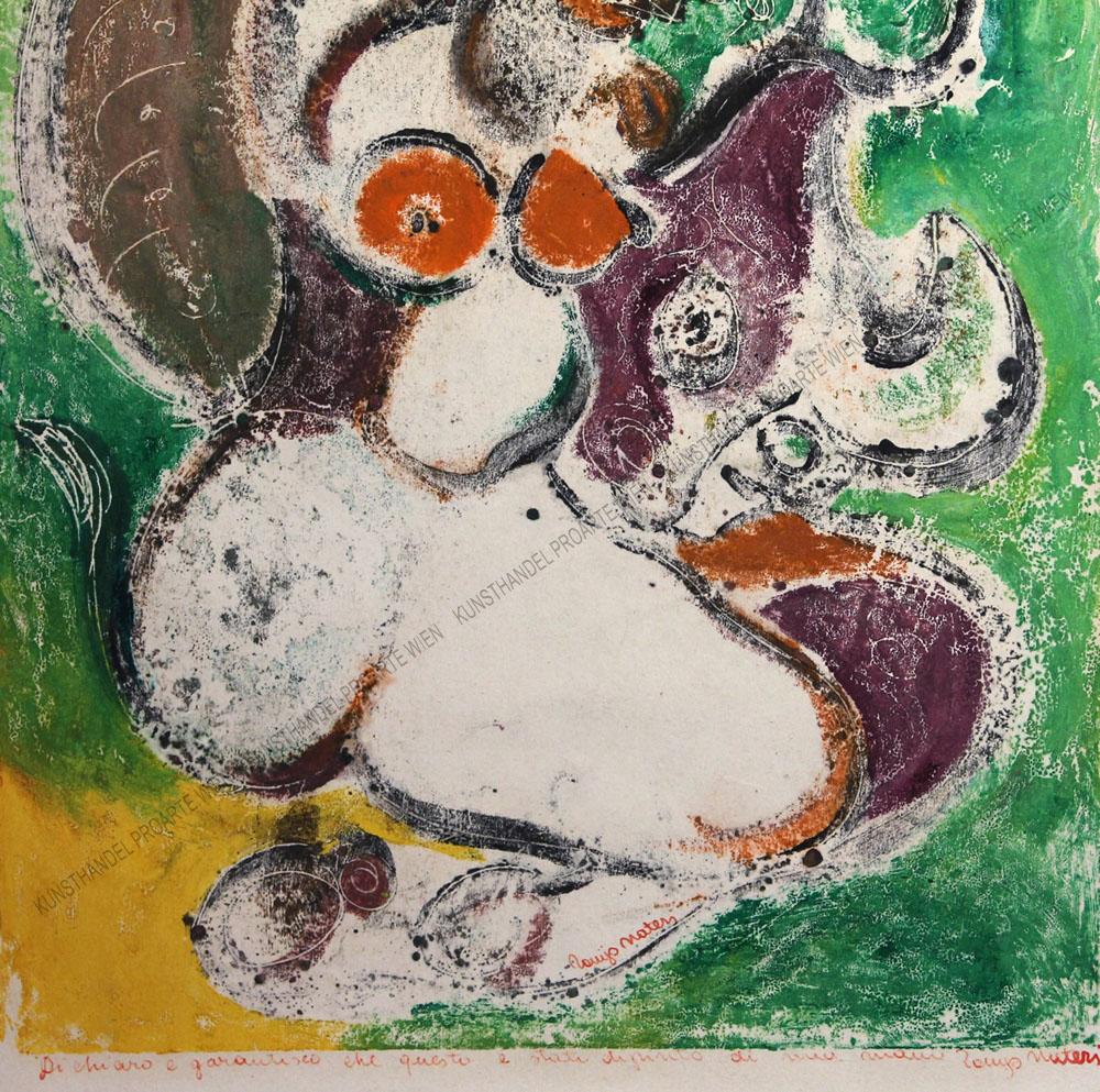 Tonio Nateri - Abstrahierte Darstellung einer Meerjungfrau mit Fischen