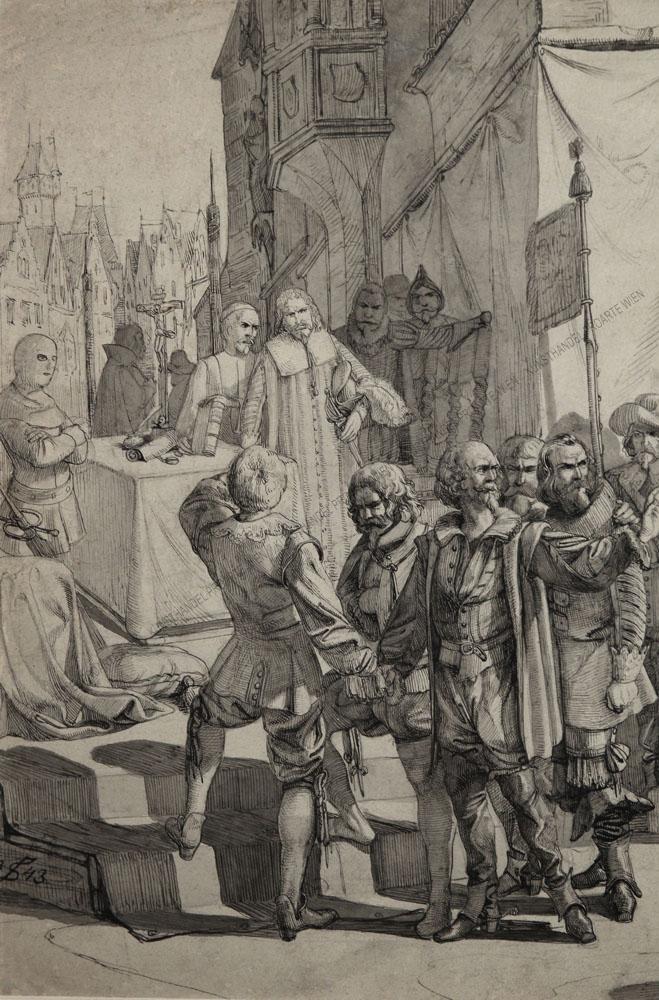 Julius Schnorr von Carolsfeld - Die Hinrichtung 27 böhmischer Rebellen auf dem Altstädter Ring in Prag im Zuge des Ständeaufstandes
