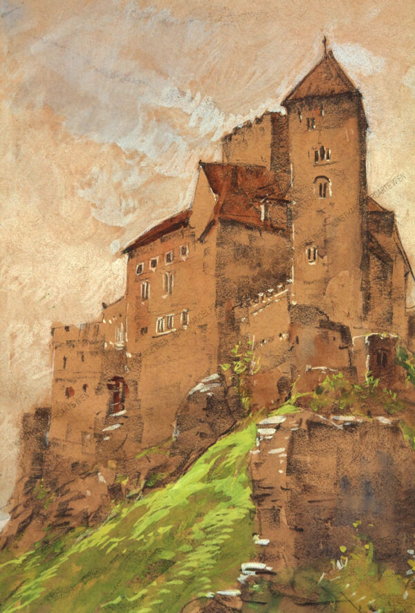 Josef Brunner - Blick auf die Burg Hardegg im nördlichen Waldviertel an der Thaya