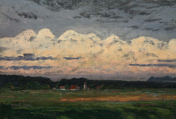 Fanny Assenbaum - Blick auf ein Dorf