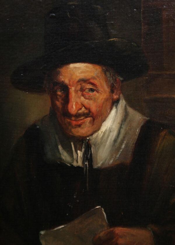 Wilhelm Lehmann - Leonhard - Mann mit Pfeife und Buch
