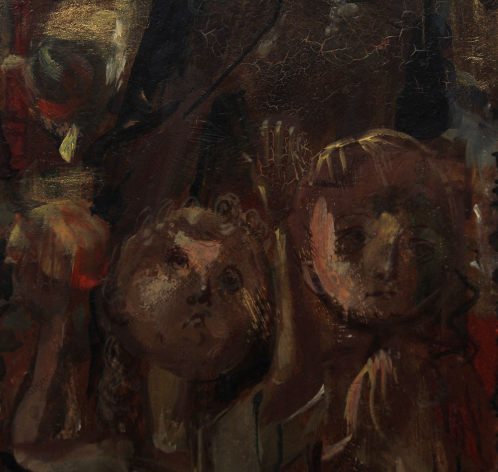 Hans Alexander Brunner - Heilige mit zwei Kindern