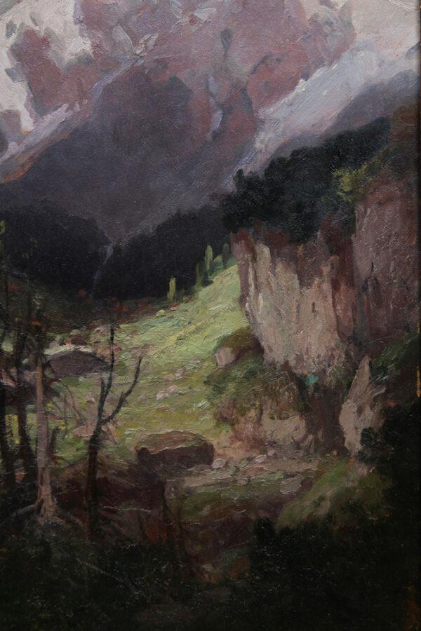 Konstantin Stoitzner - Der Ortler von derFranzenshöhe aus gesehen