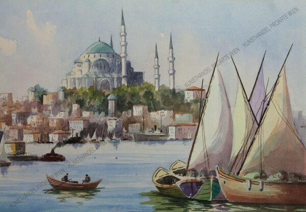 Serif Renkgörür - Der Hafen von Konstantinopel