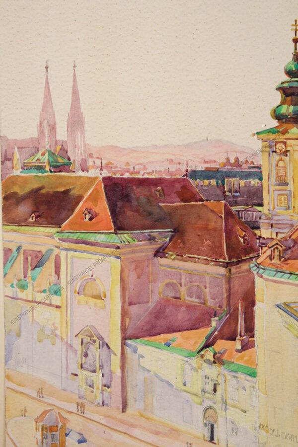 Rudolf Zwickel - Wien - Blick auf die Freyung