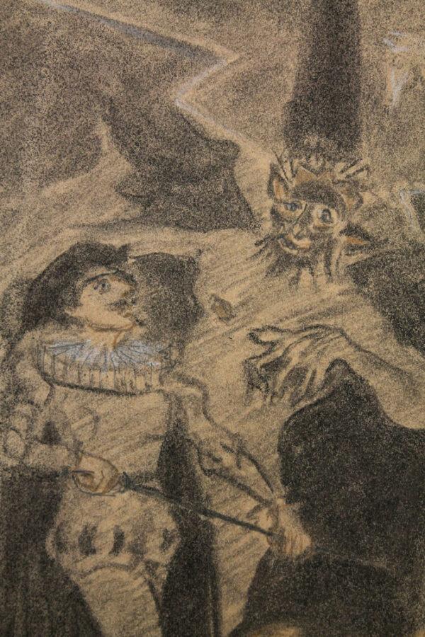 """Robert Freiherr von Doblhoff - Illustration zu Richard Strauss's -""""Don Juan"""" nach Nikolaus Lenau"""
