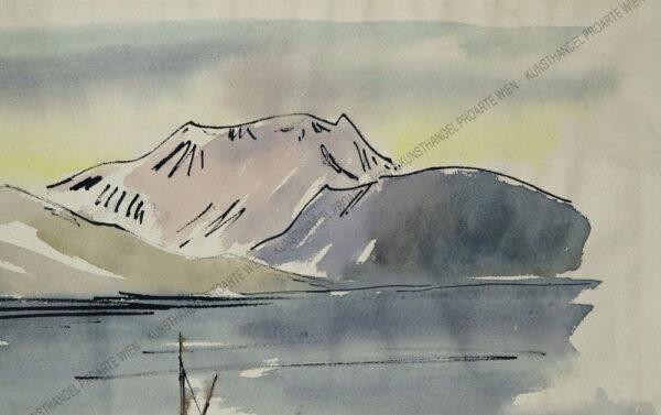 Hans Strohofer - Motiv aus dem Salzkammergut / Mondsee