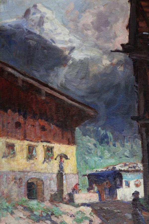 Alfred Jirasek - Altes Haus in Grins in Tirol