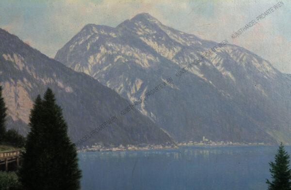 Josef Ferdinand Benesch - Der Hallstättersee mit Blick auf Hallstatt