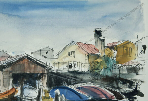 Franz Brazda - Blick auf San Trovaso