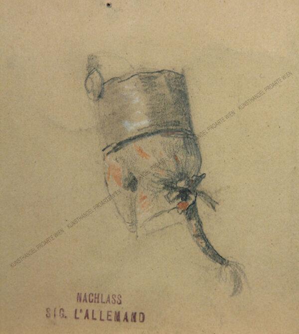 Sigmund l'Allemand - Soldat mit Haarzopf - Studie