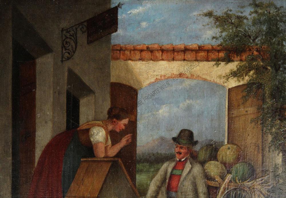 Theodor Breitwieser (Breidwiser) - Genreszene - Der Kürbisverkäufer